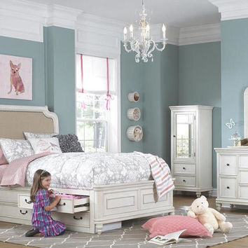Bayshore Twin Size Upholstered Panel Bed
