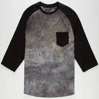 Retrofit Spray Wash Mens Baseball Tee Black  In Sizes