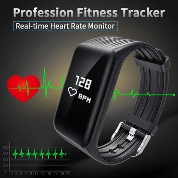 online store 11 New Fitness Tracker K1 Smart Bracelet Real-time Heart Rate Monitor waterproof watch