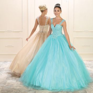 Sweet 16 Prom Ball Gown Long Dress Quinceanera