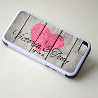 Personalized Rustic Wood Phone Case, Rustic Heart, Couples Phone Case, Samsung Galaxy Case, iPhone 6 Case, 6+ Case