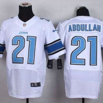 PEAP1N Nike Lions #21 Ameer Abdullah White Men's Stitched NFL Elite Jersey