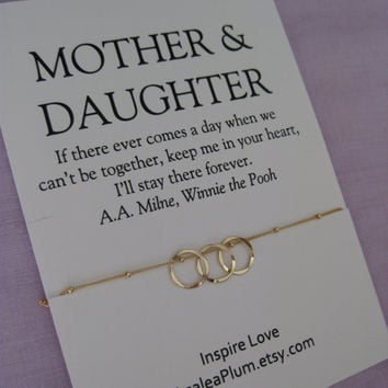 Mom DAUGHTER Jewelry. 50th birthday Gift Mother Daughter Necklace . 60Th BIRTHDAY Mother Daughter. Delicate Gold Eternity Necklace