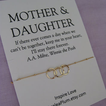 Mother Daughter Jewelry. 50th BIRTHDAY Gift Mother Daughter Necklace . 60Th BIRTHDAY Mother Daughter. Delicate Gold Eternity Necklace