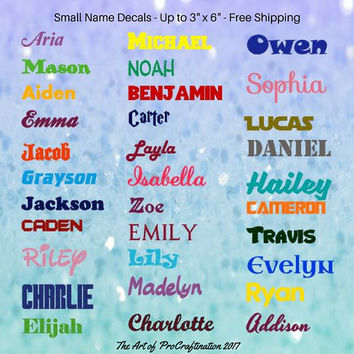 Small Personalized Name Decals (3 sizes), Water Bottle Decal , Label & Organize, Laptop Decal, Car Decal, Custom Decal, Fast Free Shipping