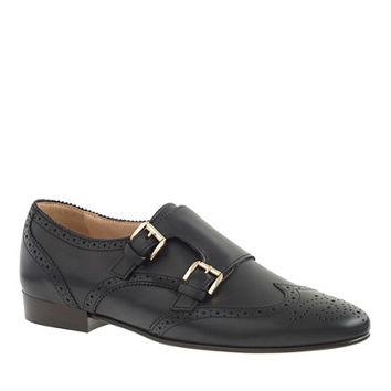 J.Crew Womens Perforated Monk Strap Loafers