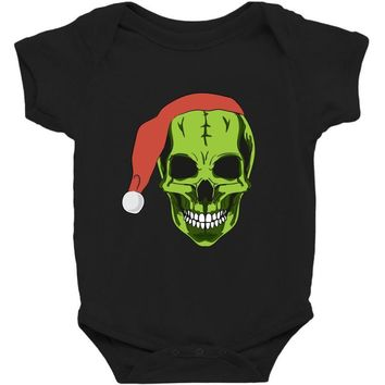santa clous skeleton Baby Bodysuit