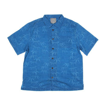 Margaritaville Mens Bamboo Garden Silk Printed Button-Down Shirt