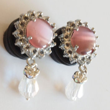 Acrylic Dangle Plugs 9/16 inch 14mm Glamor Pink by Glamsquared