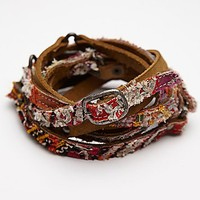 Free People Womens Tapestry Double Wrap Belt