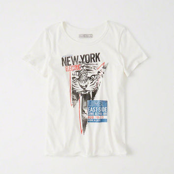 Womens Graphic Band Tee | Womens Clearance | Abercrombie.com