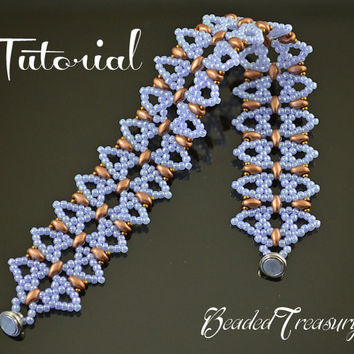 Dream of Venice - beaded lace bracelet pattern with Superduo, seed beads / beading pattern / lace bracelet / TUTORIAL ONLY