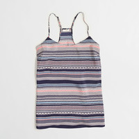Factory printed racerback camisole