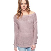 Soft Hush Off Shoulder Shimmer Pullover by Juicy Couture,