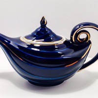Hall Aladdin Cobalt and Gold teapot.