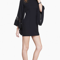LACE INSET KIMONO SLEEVE DRESS from EXPRESS