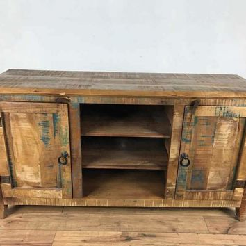 Rustic Distressed Wood Cabinet/TV Stand