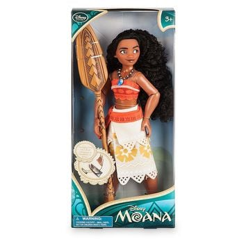 """Licensed cool Disney Store Exclusive Island Princess Moana 11"""" Classic Poseable Doll w/ Paddle"""