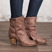 Fashion Show Booties Dark Taupe