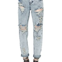 One Teaspoon Awesome Boyfriend Jeans - Acid Wash