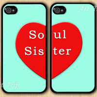 iphone 4 case, iphone 4s case -- soul sister iPhone 4 Case, iphone case, Two Case Set