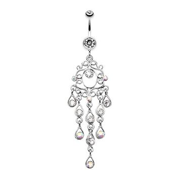 Classic Chandelier Sparkle Belly Button Ring