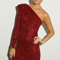 One Shoulder Glitter Dress - SHOP ALL - NEW - Shop Online
