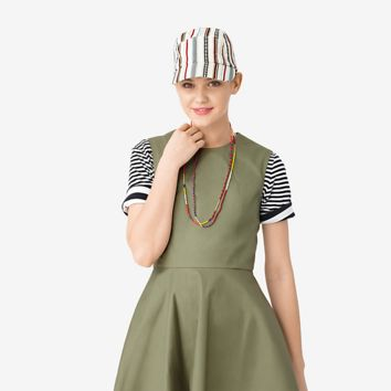 Kate Spade Saturday Seamed Cap In Strata Stripe