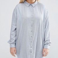 ASOS CURVE Shirt in Variegated Stripe