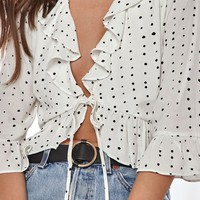 Lost + Wander Dottie Ruffle Tie Top at PacSun.com