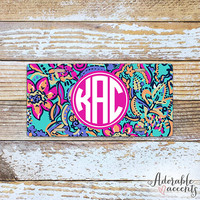 Monogrammed Lilly Pulitzer Inspired License Plate - Bait & Switch