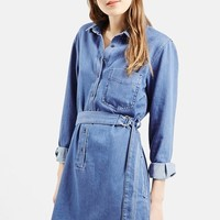 Women's Topshop D-Ring Denim Shirtdress ,