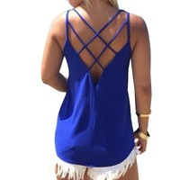 Sexy Backless T Shirt