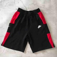 Nike New Fashion Sports Running Print Shorts Black