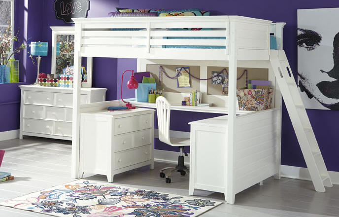 dixie full size loft bed from totally kids fun furniture. Black Bedroom Furniture Sets. Home Design Ideas