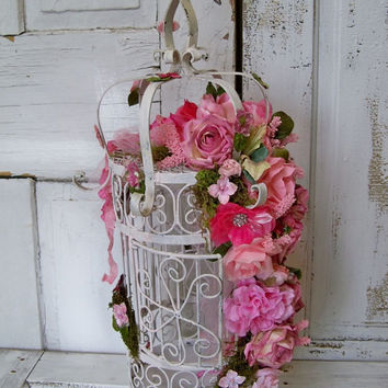 Vintage iron birdcage wedding card holder drop by AnitaSperoDesign