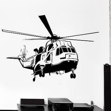 Wall Vinyl Helicopter Army Air Force Guaranteed Quality Decal Unique Gift (z3444)