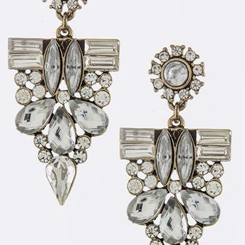 Ice Crystal Drop Earrings