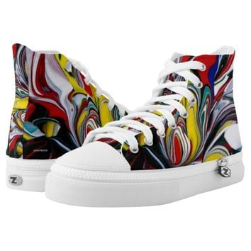 Crazy Color High-Top Sneakers