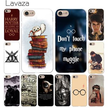 Lavaza always Harry Potter Deathly Hallows White Coque Shell Phone Case for Apple iPhone 8 7 6 6S Plus 5 5S SE 5C 4S X 10 Cove