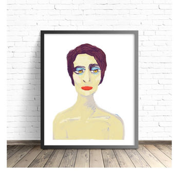 Woman Portrait, Painting of Girl, Kees Van Dongen, Naked, Raw Emotion, Peaceful, Zen, Jessie, Beautiful Woman, Illustration of Girl, Moving