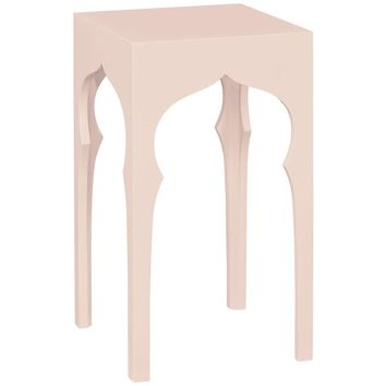 Moroccan Square Lamp Table | Ballet Pink