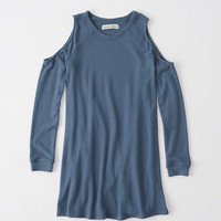 Womens Cold Shoulder Swing Dress   Womens Clearance   Abercrombie.com