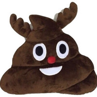 Poodolf! - Raindeer Poop Emoji Pillow