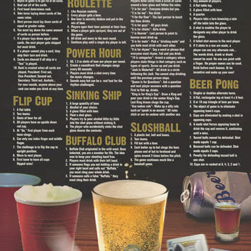 Beer Games College Poster 24x36