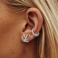 LV Fashion New Women Alphabet fashion lady personality earrings