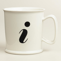 """I"" Monogram Porcelain Mug - World Market"