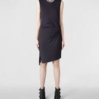 Womens Marilla Dress (Indigo) | ALLSAINTS.com