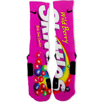 Wild Berry Skittles Custom Nike Elite Socks