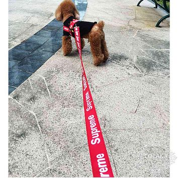 Supreme Pet Dog Cat Strap With Traction Rope